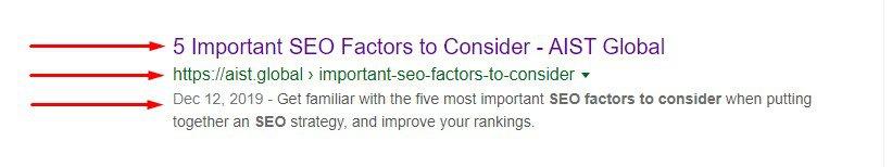 Meta Tags on Google Search