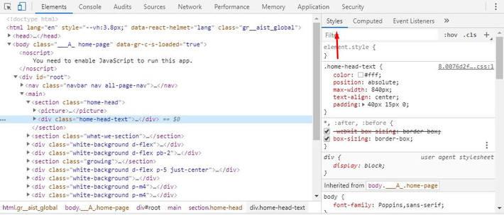 Inspect website UI - How to check Website Quality