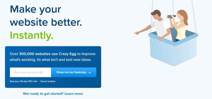 A/B Testing Tool: Crazy Egg