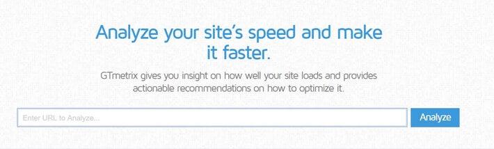 Speed Optimization Tool: GTMetrix